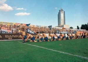 Slavlje nakon ulaska Prvu ligu